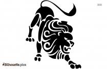 Black Lioness Head Silhouette Image
