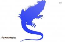 Lizard Silhouette Illustration Vector