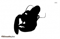 Free Cartoon Lobster Silhouette Art, Vector