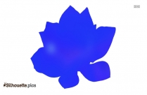 Realistic Lotus Flower Silhouette
