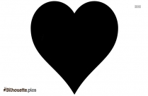 Love Heart Silhouette Outline Drawing