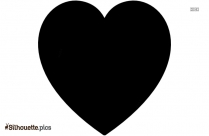 Black Love Heart Silhouette Clipart