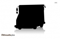 Black Mail Truck Silhouette Image