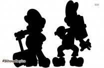Mario Shy Guy Silhouette Illustration