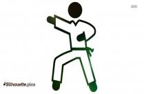 Judo Fall Silhouette Picture