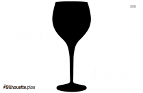 Black Martini Glass Silhouette Image