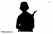 Black Military Man Silhouette Image