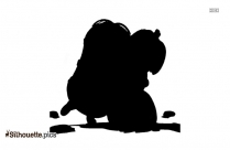 Queen Eleanor Toadstool Silhouette