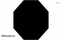 Black Octagon Silhouette Image