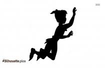 Peter Pan Flying Symbol Silhouette