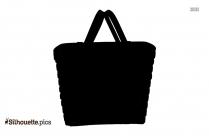 Black Picnic Basket Silhouette Image