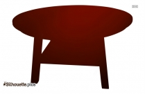 Coffee Table Silhouette Clipart
