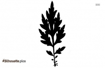 Walnut Leaf Silhouette Clip Art