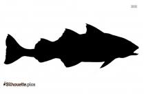 Pollock Fish Silhouette Illustration