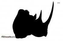 Black And White Bison Clip Art Silhouette