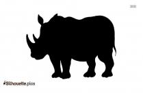 Black Rhino Silhouette Image