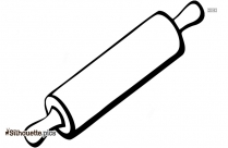 Black Rolling Pin Silhouette Outline