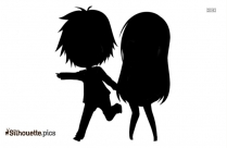 Black Romantic Couples Silhouette Image