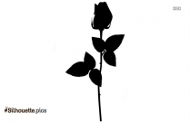 Large Rose Bud Silhouette Image