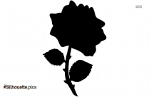 Rose And Cross Silhouette Background