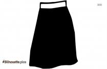 Black Skirt Clip Art Silhouette