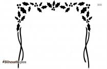 Black Snowflake Border Silhouette Image