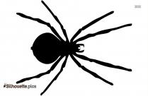 Black Spider Art Silhouette Image