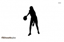 Black Sports Woman Silhouette Image