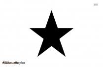 Black Star Symbol Vector Silhouette