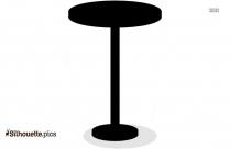 Black Stool Clip Art Vector Silhouette