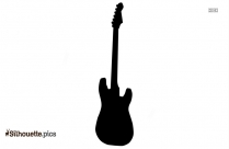 Black String Bass Silhouette Image