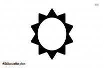 Sun Shape Silhouette Illustration