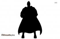Black Superhero Man Silhouette Image