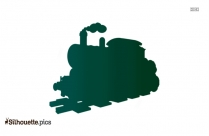 Cartoon Train Silhouette Free Vector Art