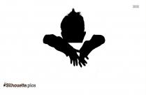 Black Cute Little Boy Silhouette Image