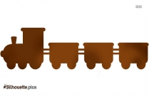 Cartoon Train Logo Silhouette For Download
