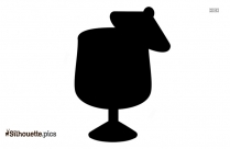 Black Tropical Drink Silhouette Image
