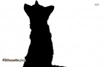 Black True Fox Silhouette Image