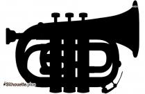 Trombone Silhouette Clipart