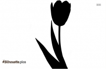 Colored Sunflower Silhouette Vector