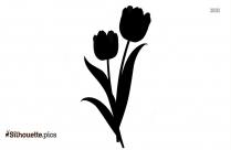 Crocus Flower Silhouette