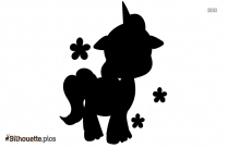 Cartoon Unicorn Silhouette Vector And Graphics