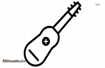 Acoustic Guitar Silhouette Free Vector Art
