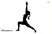 Camel Yoga Pose Silhouette Free Vector Art