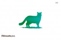 Black Wild Cat Silhouette Image