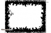 Black Winter Border Silhouette Image