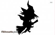 Witch Silhouette Template