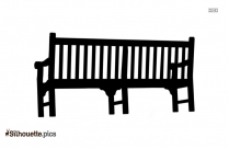Black Wooden Bench Silhouette Image