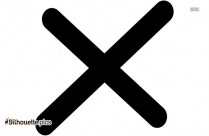 Cartoon Maltese Cross Silhouette