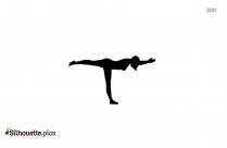 Dragonfly Yoga Pose Silhouette